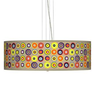 Marbles In The Park 24 Wide Four Light Pendant Chandelier
