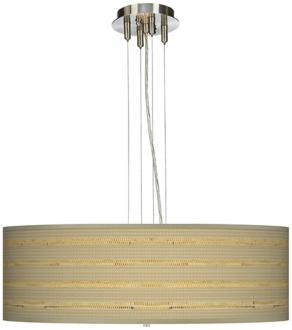 Woven Reed 24 Wide Four Light Pendant Chandelier 17276