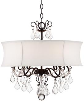 Zula white shade 22 wide crystal chandelier 2r758 39999 zula white shade 22 wide crystal chandelier 2r758 mozeypictures Images