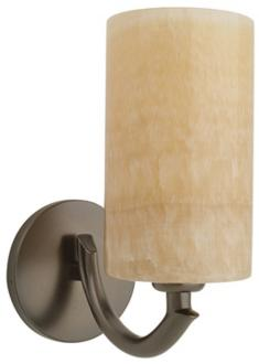 Bronze and onyx cylindrical wall sconce 30055 - Cylindrical wall sconce ...