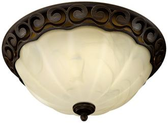 Image Of Decorative Scroll Rubbed Bronze Bathroom Fan With Light K7697
