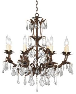 "Kathy Ireland Venezia Bronze 8 Light 26"" Wide Chandelier"