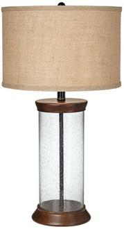 image of sanford bubble glass fillable table lamp x0095